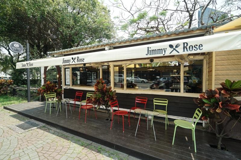 [花蓮咖啡廳]Jimmy x Rose Cafe 吉米蘿絲-鳳凰樹下的小木屋 自成一局又有點小浪漫 自製甜點&烘焙咖啡豆 @跳躍的宅男