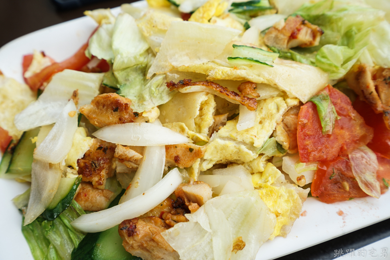 [花蓮早餐]這哪裡是蛋餅 根本就是盤熱炒! 滿滿蔬菜肉片跟起士 大份量熱炒蛋餅營養滿分  只有這家鄉村漢堡有 內有影片 花蓮美食 花蓮蛋餅推薦 花蓮VLOG
