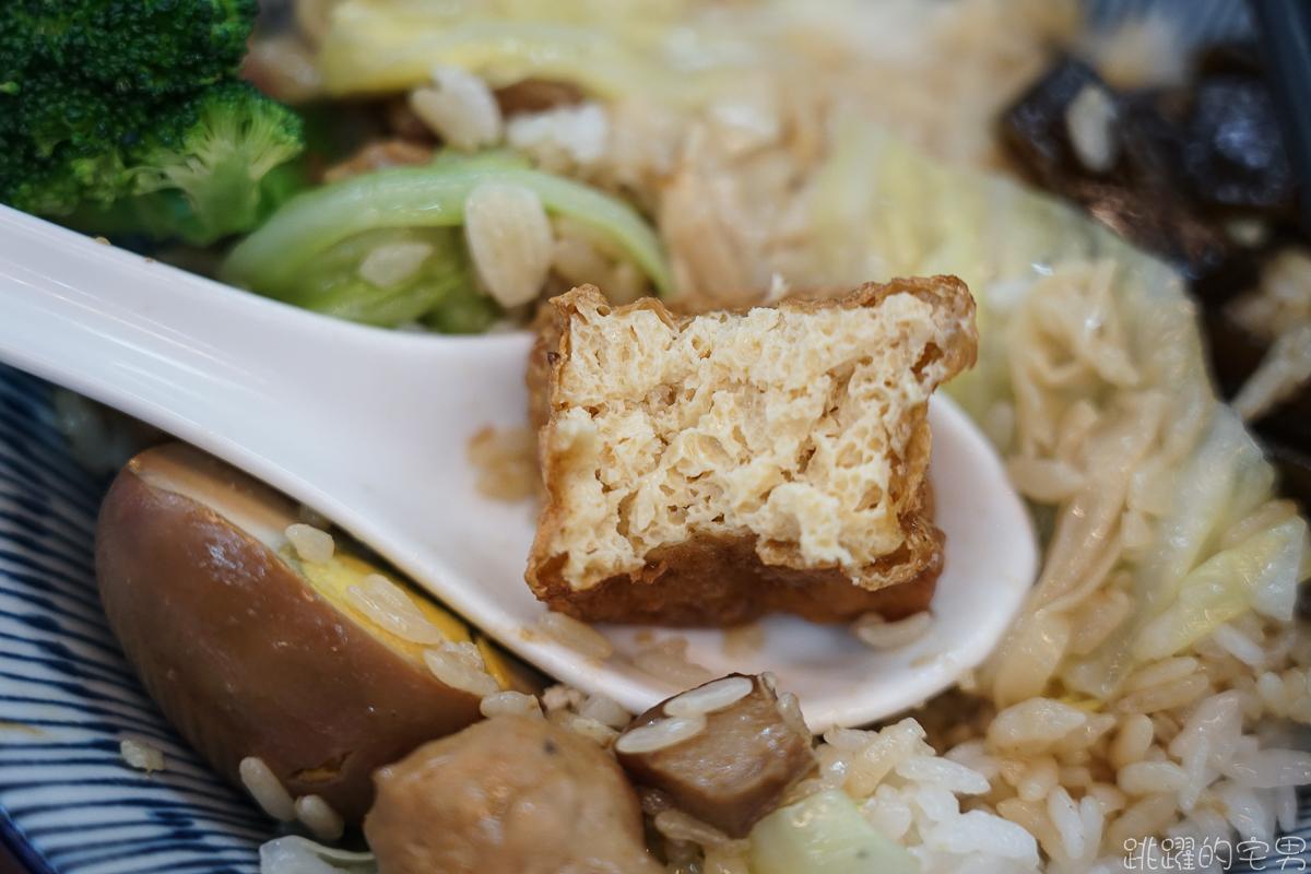 [花蓮美食]府城海產- 排骨飯 七樣配菜一主菜 份量滿滿滿 外帶便當分隔排骨不軟爛 花蓮便當推薦