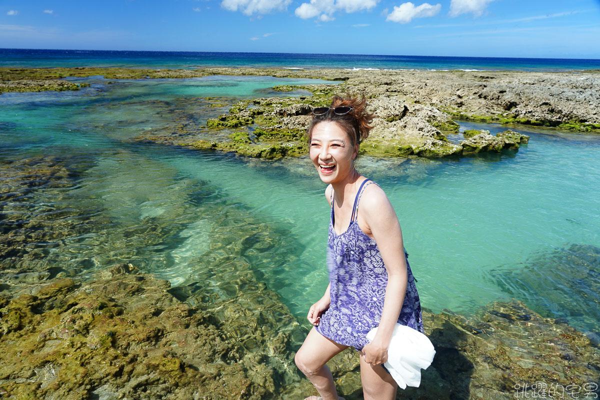 [蘭嶼旅遊] 野銀冷泉- 自然湧出沁涼冷泉與夢幻藍海大自然美麗景象 IG網美蘭嶼必去景點  淺水區親子戲水也很適合 蘭嶼景點推薦