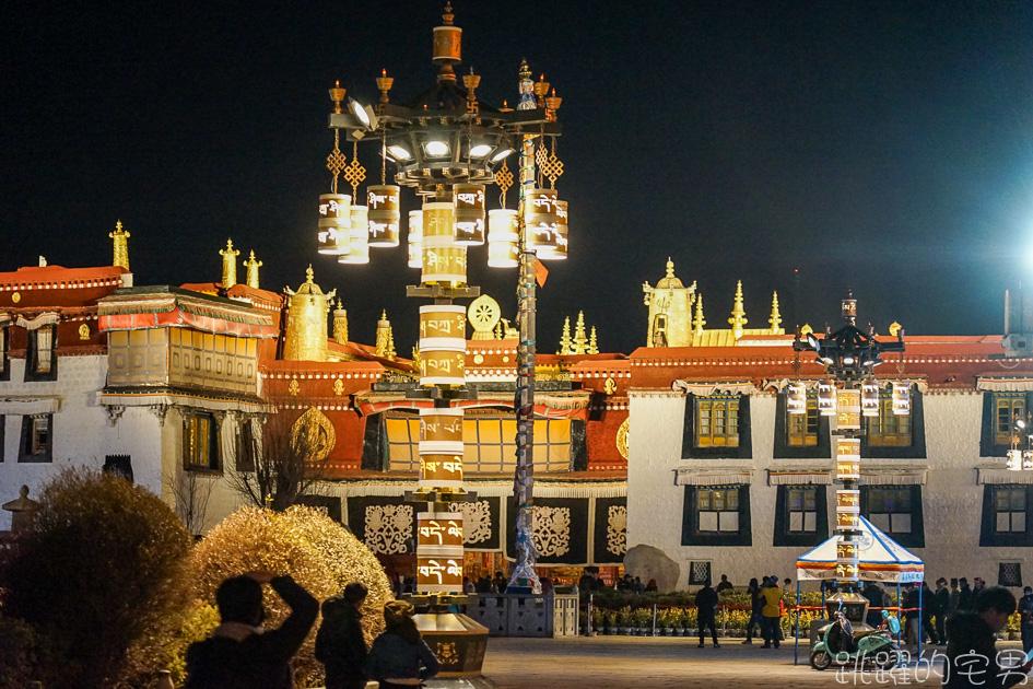 西藏5天4夜旅遊行程第二天-全西藏第一座佛寺 建立居然跟文成公主有關 夜晚的大昭寺有如黃金城  八廓街市集超大超好逛 頂樓喝西藏甜茶非常悠閒  世界文化遺產 西藏景點 西藏旅遊