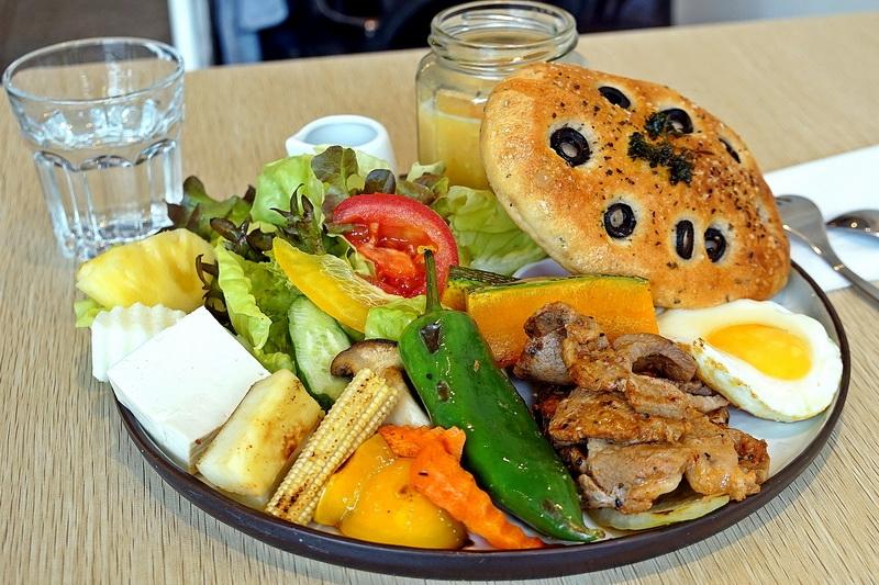 [花蓮市]小日食手作-使用新鮮小農蔬菜、手工麵包早午餐,而且還有提供素食唷 @跳躍的宅男