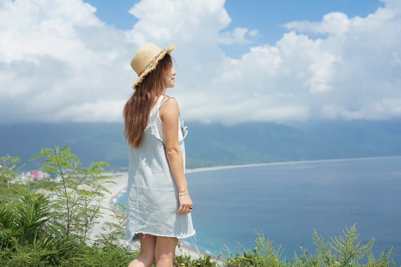 [花蓮景點]四八高地俯看太平洋美景  IG熱門打卡點 七星潭周遭景點 @跳躍的宅男