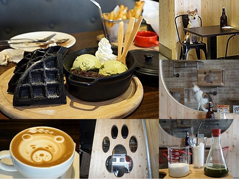 [花蓮]First Floor Caf'e壹樓 貓·咖啡 寵物友善餐廳 獨特黑鬆餅 實驗室級調配飲料 店狗好可愛唷 @跳躍的宅男
