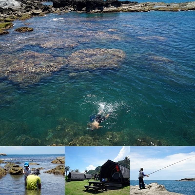 [花蓮豐濱]石梯坪-台11線東海岸美景 浮潛、野餐、露營 夏天就是要到海邊玩啊! @跳躍的宅男
