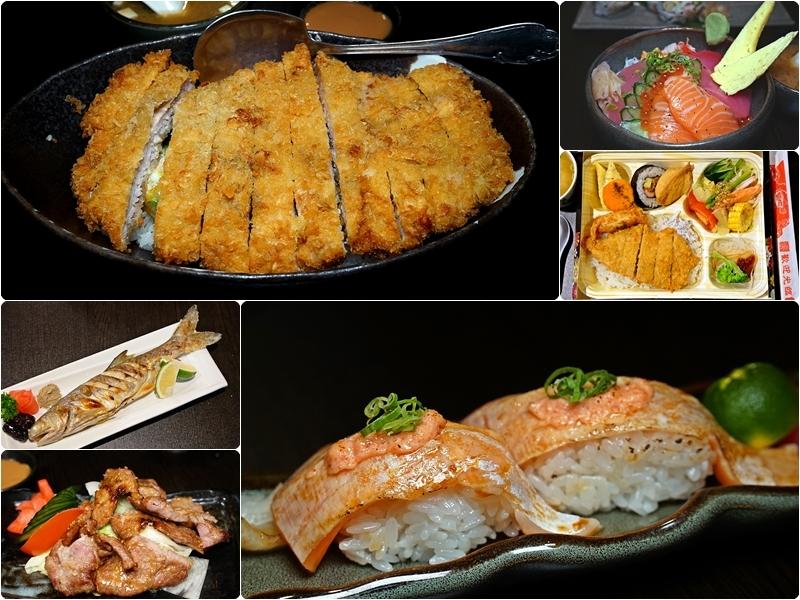 [花蓮市]八丼手作日式料理-近半斤大豬排飯!握壽司醋飯口感我喜歡! 還有精緻日式便當唷 @跳躍的宅男