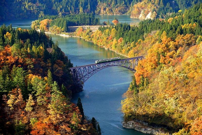 [日本福島]只見線鐵道必去景點 美得讓人屏息 四季絕景讓我還想一去再去啊 @跳躍的宅男