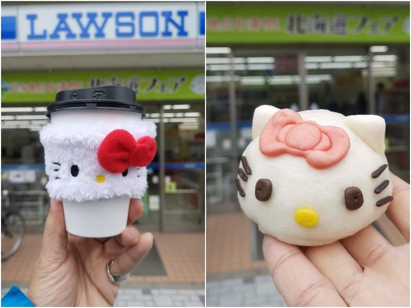Hello Kitty居然免費送~~即日起日本LAWSON買熱咖啡贈送凱蒂貓隔熱杯套  數量有限,送完為止 還推出超可愛Hello Kitty造型包子 限量是殘酷的! @跳躍的宅男