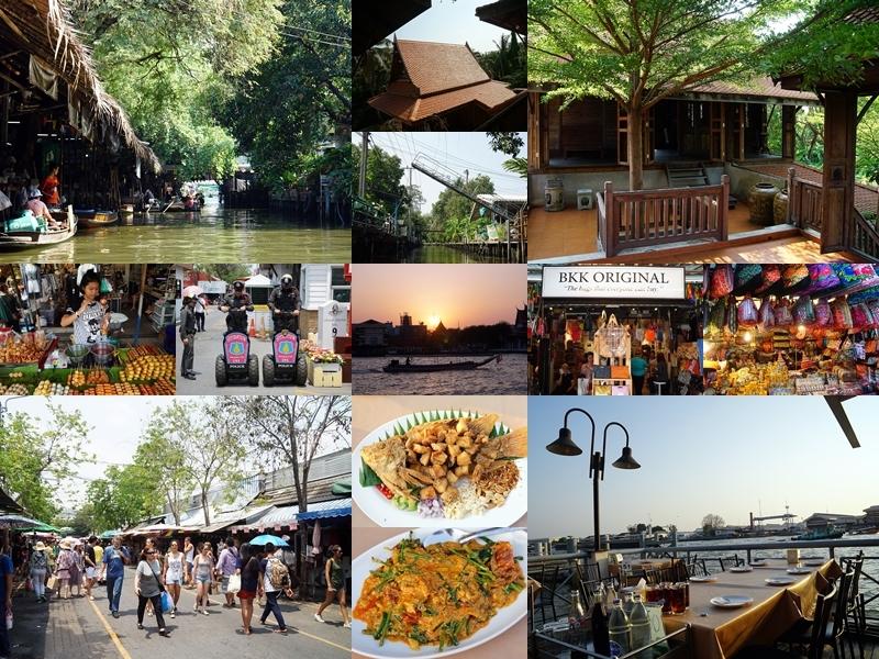 [泰國曼谷]恰圖恰假日市集 市集大到沒邊了 如果要開店買那邊絕對要得到你要的任何東西 Khlong Lat Mayom Floating Market 空叻瑪榮水上假日市場 水上市場離曼谷只要40分鐘 吃飯非常方便  坐船遊河道 還有百年老宅可以參觀 Krua Khun Kung餐廳 坐落海軍俱樂部享受湄南河夕陽美景 超享受的晚餐時光啊 @跳躍的宅男